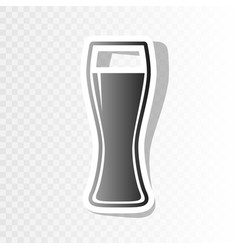 Beer glass sign  new year blackish icon on vector