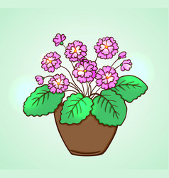 Blooming pink flowers vector