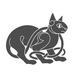 Ancient celtic mythological symbol of cat vector
