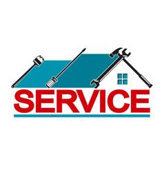 Service house vector