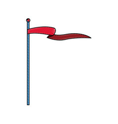 Circus flag pole festive entertainment insignia vector