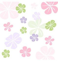 Seamless floral pattern wallpaper vector