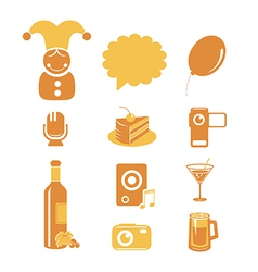 Holidays and party icons vector image