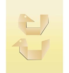 paper bird icon vector image
