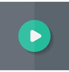 Media play icon Start music symbol Flat design vector image