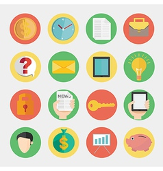 Modern flat icons design for business and finance vector