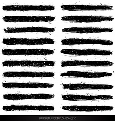 Grunge brushes vector image