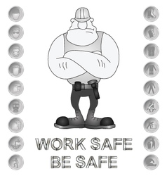 Health and Safety Message vector image