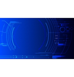 Technology abstract background dash board panel vector