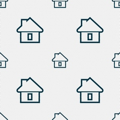House icon sign seamless pattern with geometric vector
