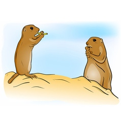 Prairie dogs vector