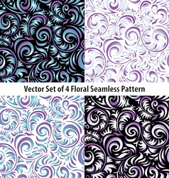 Seamless Wallpaper Pattern set colors vector image