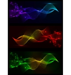 Colorful smoke and lights vector