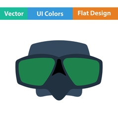 Flat design icon of scuba mask vector