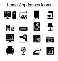 appliance icon set graphic design vector image