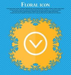 Arrow down download load backup floral flat vector