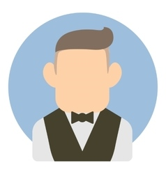 Avatar man in suit icon flat style vector
