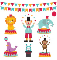 Circus set vector image