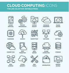 Cloud omputing internet technology online vector