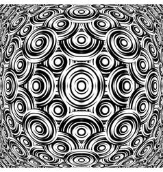 Design warped monochrome circle pattern vector