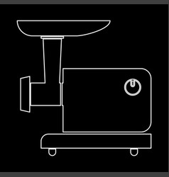 Electric meat mincer white color path icon vector