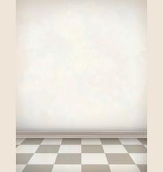 Empty Room White Wall Tile Floor vector image vector image