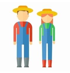 farmers color icon vector image