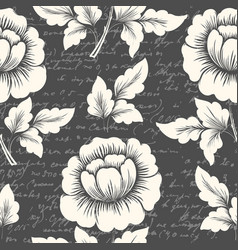 Flower seamless pattern element with vector
