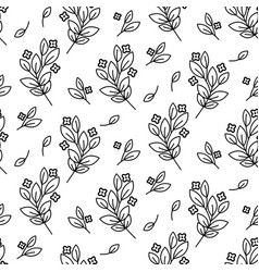 Foliage branches floral seamless simple vector