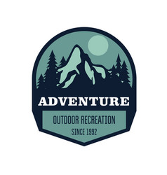 hiking mountain climbing and outdoor activity vector image vector image