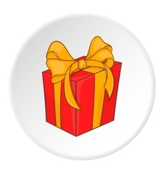 Holiday gift box icon cartoon style vector image