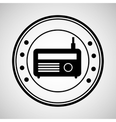 icon radio news sound design graphic vector image