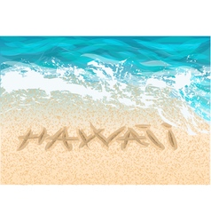 inscription hawaii vector image vector image