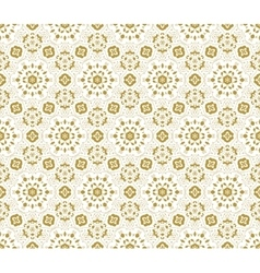 Lace fabric seamless pattern with flowers vector image vector image