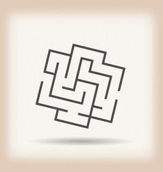 Maze symbol on vintage background vector