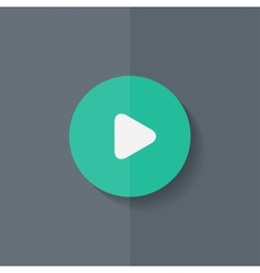 Media play icon start music symbol flat design vector