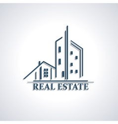 Modern icon for Real estate business design vector image vector image
