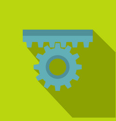 One gear icon flat style vector
