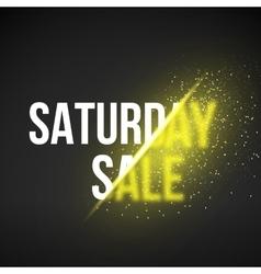 Saturday sale energy explosion vector