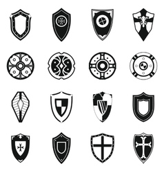 Shields set icons vector image vector image
