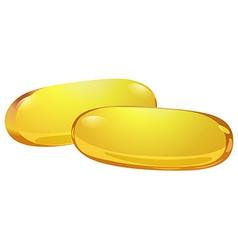 Two medicinal capsules vector