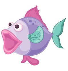 a purple fish vector image