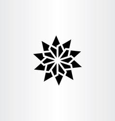 Black star icon geometric sign element symbol vector