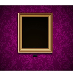 Picture frame on grunge wall vector