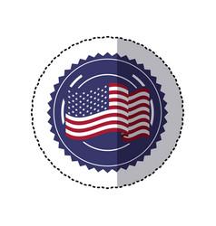 symbol american flag sign icon vector image