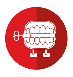april fools day chattering teeth shadow vector image