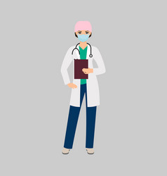 Female character of toxicologist vector