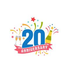 Anniversary twenty years number vector