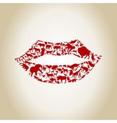 Lip an animal vector image
