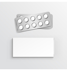 Blank package box for blister of pills vector